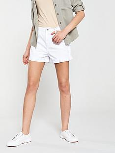 a0863a447623 Warehouse Denim Shorts - White