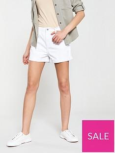 warehouse-denim-shorts-white