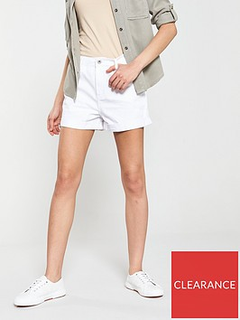 warehouse-denim-shorts-white