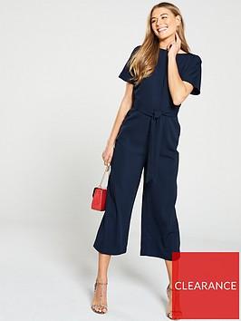 warehouse-slash-neck-jumpsuit-navy