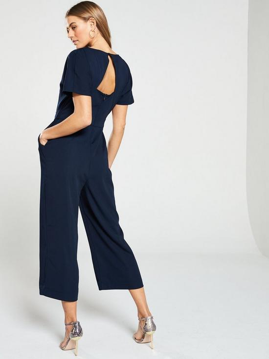 beeb19d46345 ... Warehouse Slash Neck Jumpsuit - Navy. View larger