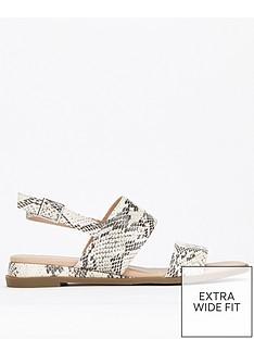 d8ab12abf Evans Evans Extra Wide Fit 2 Strap Slingback Sandal