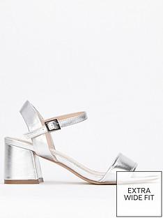 33db1bd13 Evans Evans Extra Wide Fit Honey 2-Part Flared Heel Sandal