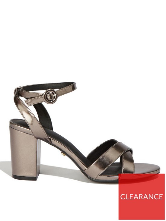 995ca7f0e0f Annie Block Heel Sandals - Metallic