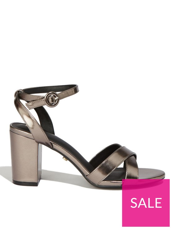 390a0632fa7d Oasis Annie Block Heel Sandals - Metallic | very.co.uk