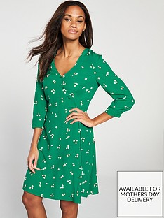 warehouse-verity-ditsy-floral-dress-green