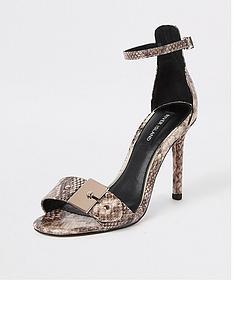 d292248d197 River Island Skinny Heel Sandal - Snake