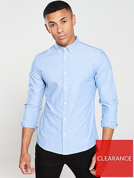 very-man-long-sleeved-oxford-shirt-blue