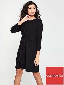 v-by-very-knotted-jersey-dress-black