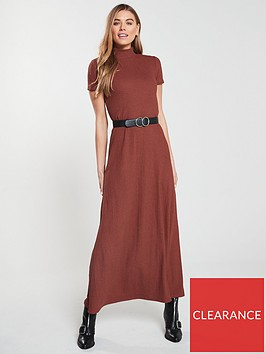 v-by-very-high-neck-jersey-dress-rust