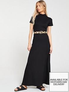 v-by-very-high-neck-maxi-dress-black