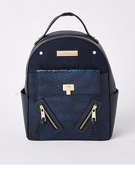 river-island-backpack-navy