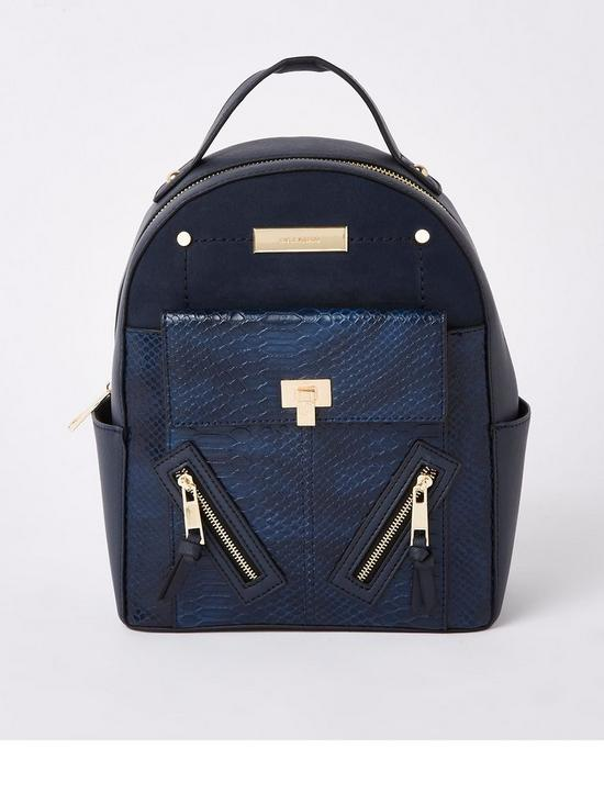 5cb23d8fee8 River Island Backpack - Navy | very.co.uk