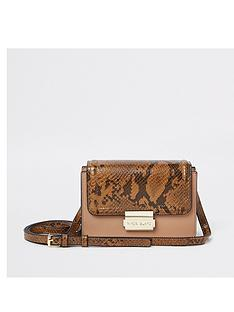river-island-river-island-mini-snake-print-mix-crossbody-bag--tan