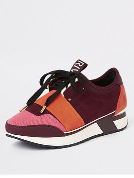 river-island-sporty-trainer-red