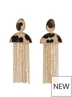 river-island-river-island-leopard-print-tassle-earrings--leopard