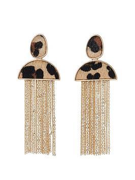 river-island-river-island-leopard-print-tassle-earrings--leopard