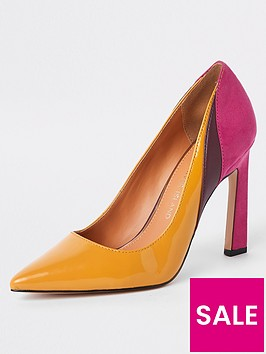 river-island-river-island-colour-mix-court-shoe-yellow