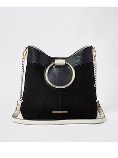 633a814aaea3 River Island River Island Ring Handle Cross Body Bag - Black