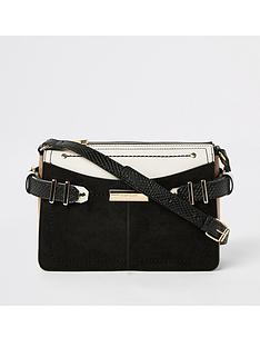 river-island-river-island-contrast-trim-cross-body-bag-black