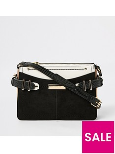 River Island River Island Contrast Trim Cross Body Bag - Black 5702ca296f83b