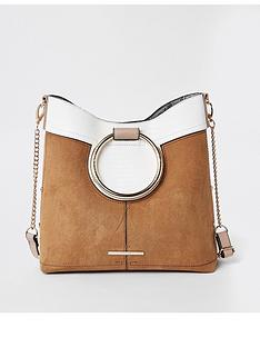 5c7698239fe1 River Island River Island Ring Handle Cross Body Bag - Tan