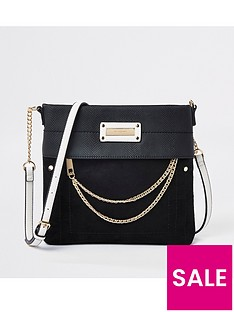 river-island-river-island-contrast-strap-cross-body-messanger-bag-black