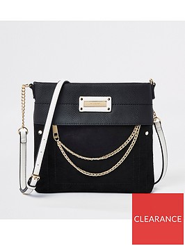 river-island-river-island-contrast-strap-cross-body-messanger-bag-black
