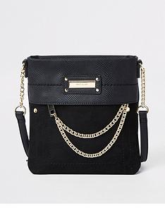 a801d8692ede River Island River Island Mini Chain Front Cross Body Messenger Bag - Black