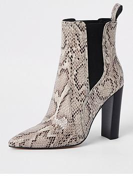 river-island-river-island-block-heel-ankle-boots-snake