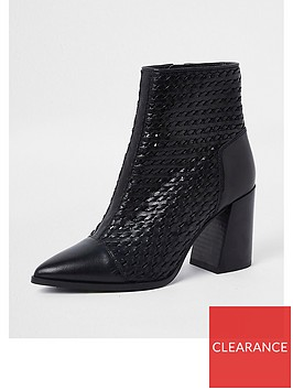 river-island-river-island-leather-weave-ankle-boot-black