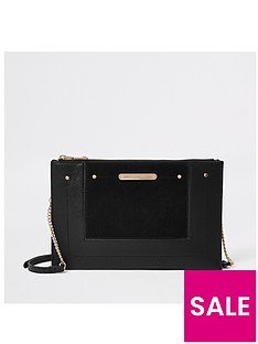 River Island River Island Chain Cross Body Pouch Bag - Black ed1483406cf2a