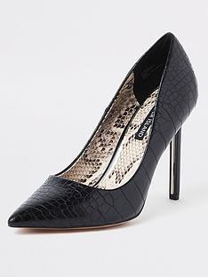 2b41f322031 River Island River Island Skinny Heel Court Shoe - Black