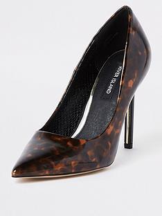 62d31f35af8 River Island River Island Skinny Heel Court Shoe - Leopard