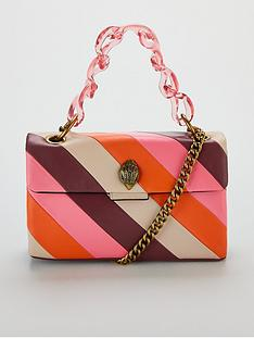 8c501fc76287 KURT GEIGER LONDON Kensington Stripe Chain Bag - Pink