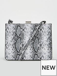 271fb2449f52 V by Very Paloma Frame Boxy Cross Body Bag - Grey Snake Print