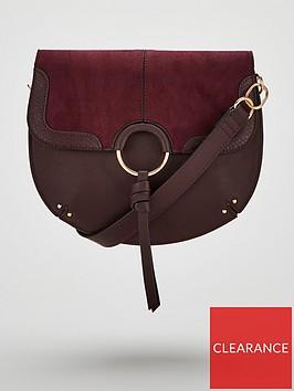 v-by-very-paris-tassel-saddle-bag-burgundy