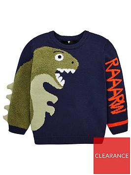 v-by-very-boys-dino-knitted-jumper-navy