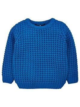 v-by-very-boys-waffle-knit-jumper-blue