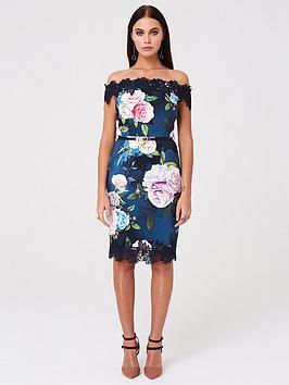 paper-dolls-bardot-floral-printed-bodycon-dress-multi