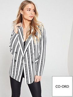 wallis-stripe-double-breasted-blazer-mono