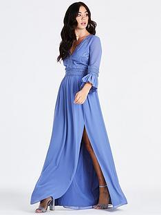 little-mistress-long-sleeve-midaxi-dress-hydrangea