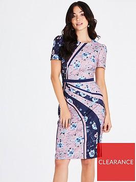 little-mistress-mixed-print-bodycon-dress