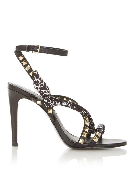Geisha Heel Sandals And Stud High Black Bandanna tQshrCxd
