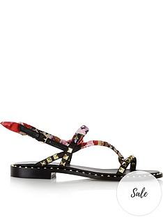 ash-pattaya-stud-and-printed-fabric-sandals-black