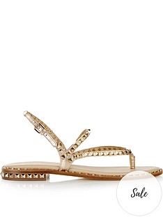 ash-peps-leather-and-stud-sandals-rose-gold
