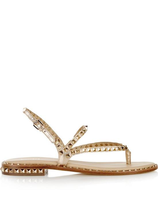 aa7e6af5dd5f ASH Peps Leather And Stud Sandals - Rose Gold