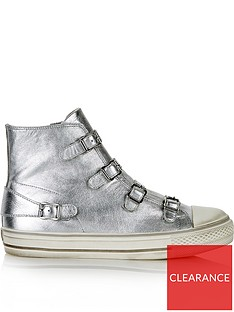 ash-virgin-high-top-buckle-metallic-trainers-silver