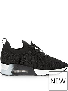 ash-lunatic-starnbspknitted-bubble-sole-trainers-black