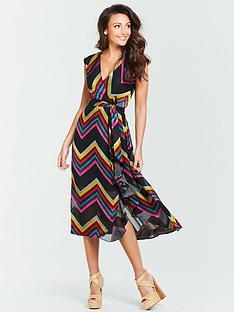 25f7d948868 Michelle Keegan Burnout Midi Dress - Multi
